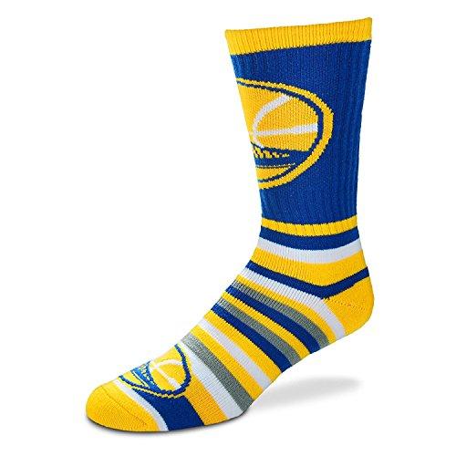 Für Bare Feet lotta-stripe Herren Crew Socken Herren M 5–10–Golden State Warriors