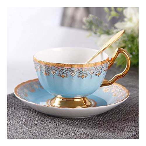 William 337 koffiemok set Europea keramiek phnom penh bloem theekop met schoteltjes eetlepel voor huishoudelijk gebruik voor dagelijks gebruik Afternoon thea beste cadeau - 4 kleuren