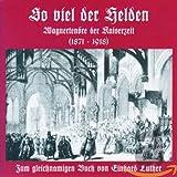 Wagner : So viel der Helden. Bolz, Goltz, Knote, Jörn, Unkel, Erb, Baum.