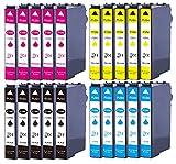 20 cartuchos de tinta XL sustituyen a Epson T1291 T1292 T1293 T1294, por ejemplo, para Epson Stylus SX230, Stylus SX235, Stylus SX420, Stylus SX425, WF 3520, WF 3530, WF 3540