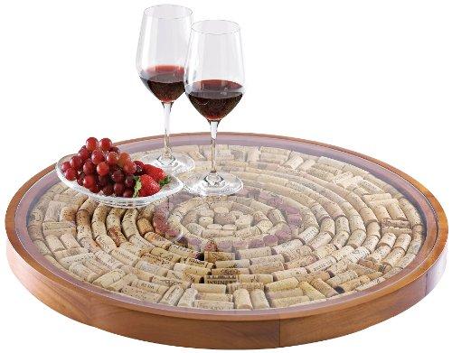 Wine Enthusiast Wine Cork Lazy Susan Kit