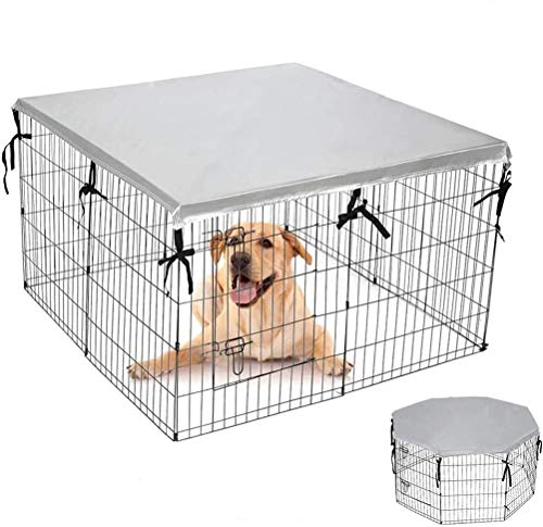 EXPAWLORER Double Side Dog Playpen Cover- Sun-Proof & Water-Proof Top Kennel Cover for Outdoor and...