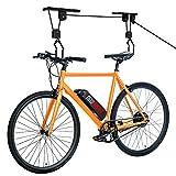 NEWURBAN Bike Ceiling Mount Lift Hoist Hanger Storage Rack for Garage Indoor - Bicycle, Ladder and Kayak Lift - Premium Quality - Black Color