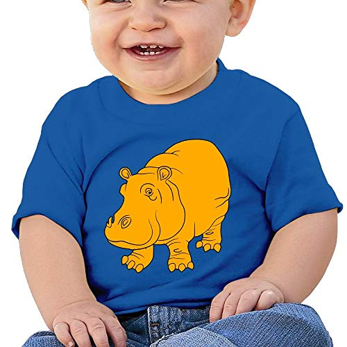 Pmguerxbfhyd Baby Girls Kids Gold Hippo Short Sleeves Shirt