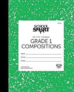 School Smart Skip-A-Line Ruled Composition Book, Grade 1, Green, 100 Pages