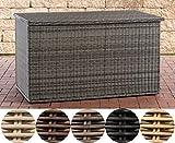 CLP Poly-Rattan Auflagenbox Comfy Ø 5 MM I Für Gartenpolster I Wasserdicht, Farbe:grau-meliert, Größe:150 Liter
