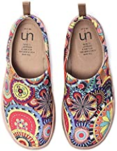 UIN Women's Blossom Painted Fashion Sneaker Canvas Slip-On Travel Shoes (9)