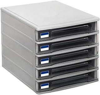 5 tiroirs Armoires de classement en plastique Boîte de rangement Famille Cabinet Armoire de bureau Archive Manager Manager...