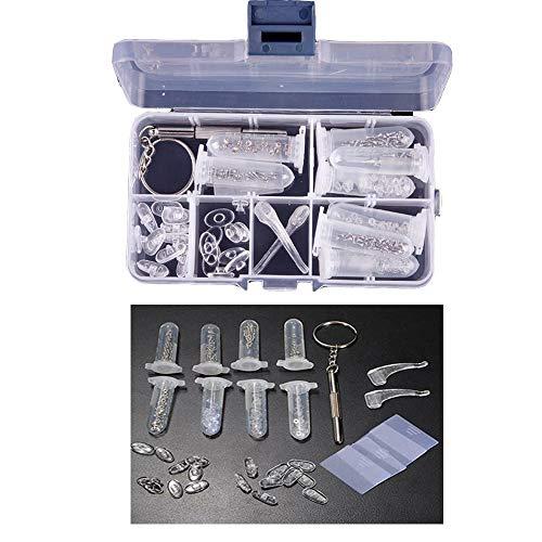 Brillen-Reparatur-Set, Sonnenglas-Reparatur-Set mit Schrauben, Nasenpads 3 in 1 Mikro-Schraubendreher für Brillen, Uhren, Juweliere, elektronische Geräte, Spiel-Controller, DIY-Projekte