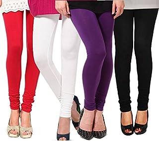 Ezee Sleeves Women's Cotton Leggings Combo Set of 4 | Legging for Women | Legging Combo Set | Cotton Leggings