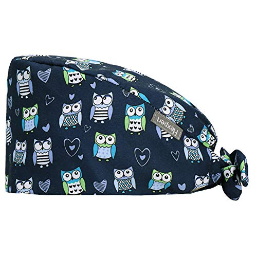 ZTL Fashion Printed Working Hat Tie Back Cap with Sweatband for Women Men