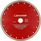 LXDIAMOND Diamant-Trennscheibe 230mm x 25,4mm ideal für den Dauereinsatz in 2-3cm Feinsteinzeug Terrassenplatten Feinsteinzeugfliesen Natursteinfliesen usw. Diamantscheibe 230 mm