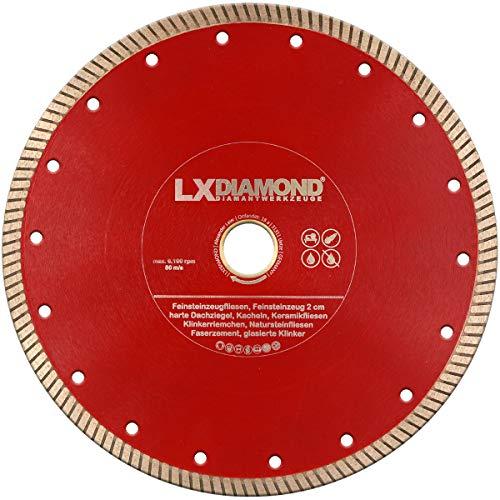 LXDIAMOND, disco diamantato da 230 mm x 25,4 mm, ideale per l'uso continuo in gres porcellanato, piastrelle in gres porcellanato, piastrelle in gres porcellanato, ecc. disco diamantato da 230 mm