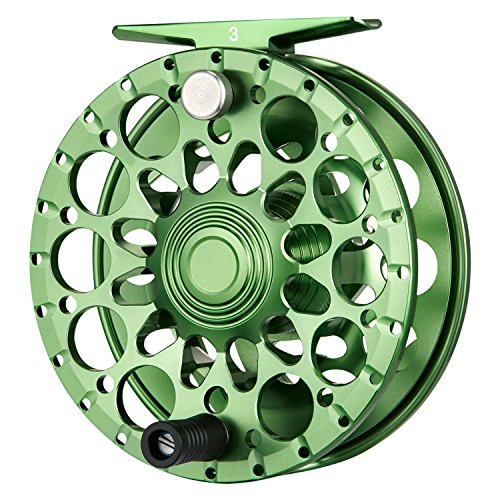 Piscifun Crest Fully Sealed Drag Large Arbor Fly Fishing Reel Saltwater CNC-machined Aluminum Alloy Fly Reel 7/8 Green