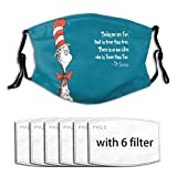 Dr-Seuss Face Mask Washable Balaclava Unisex Dust Masks Bandanas for Outdoor Adult & Kids-Dr Seuss-5-One Size cloth face mask Made In USA