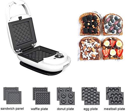 LIANYANG 600 W Panini und geröstete Sandwich Teller,Muffin Maker Bügelmaschine,Antihaft Omelett Pan Toaster Eier Maker,pflegeleicht,Snack Maker,weiß