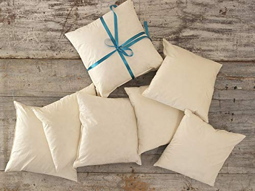 Lancashire Textiles Duck Feather Cushion Pad Inner Insert 2 Pack 30 x 40cm - 100% Downproof Cotton Cover - Made in UK