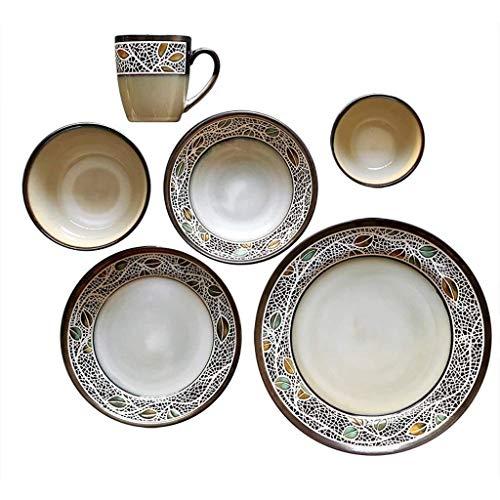 YYAI-HHJU Keramik Kreatives Besteck Set Porzellan Teller Teller Dessert Kuchen Teller Geschirr Zubehör