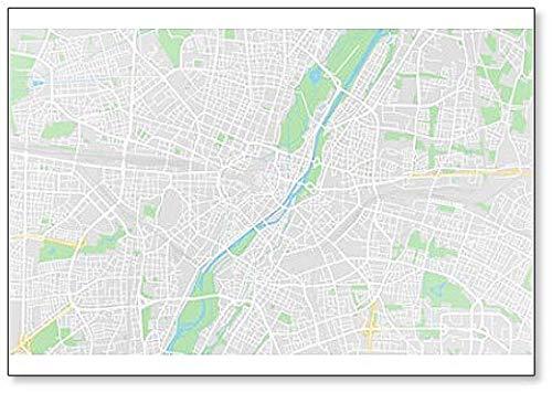 Imán para nevera, diseño de mapa de la calle Munich, Alemania