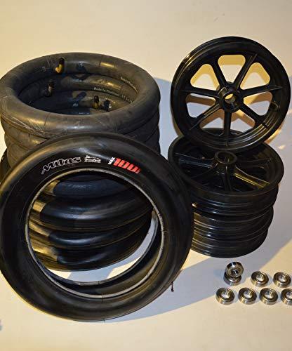 Radsatz Bausatz für Seifenkiste Räder Rad mit Kugellager Mitas Sport Slick 100 km/h Reifen