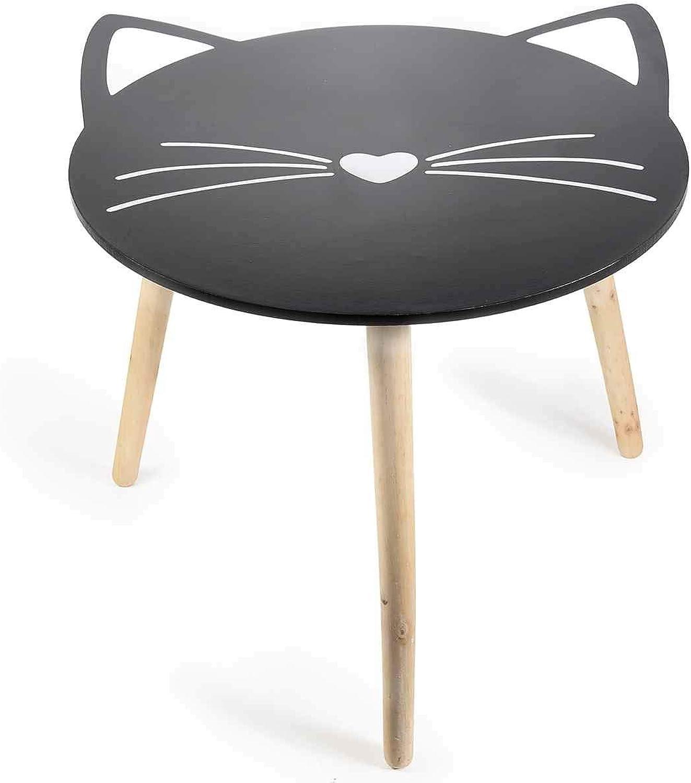 tienda de ventas outlet Ideapiu Mesa de Madera con Forma de de de Gato con Patas Desmontables