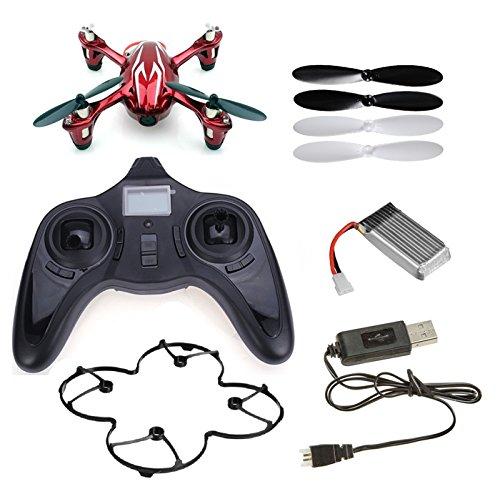 HUBSAN X4 H107C Mini drone quadricoptère avec CAMÉRA ESPION INTÉGRÉE - Couleur ROUGE