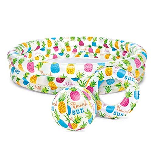 HRRF Conjunto de Piscina Inflable, Piscina Familiar, Juguetes de jardín Familiar, Juguetes de Verano para niños, PVC portátil Plegable
