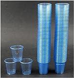900 Schnapsbecher hellblau / Medikamentenbecher 2cl - 3cl Einweg Schnapsgläser