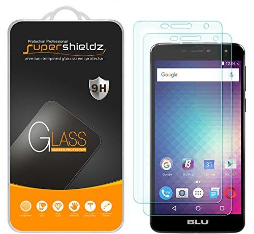 (2 Pack) Supershieldz for BLU (Studio XL 2) Tempered Glass Screen Protector, Anti Scratch, Bubble Free