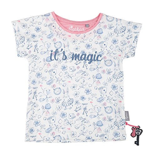 Sigikid Mädchen, Mini T-Shirt, Weiß (Egret 77), 116