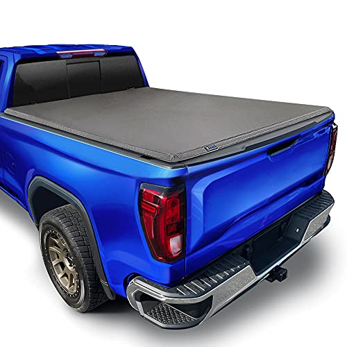 """Tyger Auto T3 Soft Tri-Fold Tonneau Cover Compatible with 2019-2020 Chevy Silverado/GMC Sierra 1500 New Body Style 