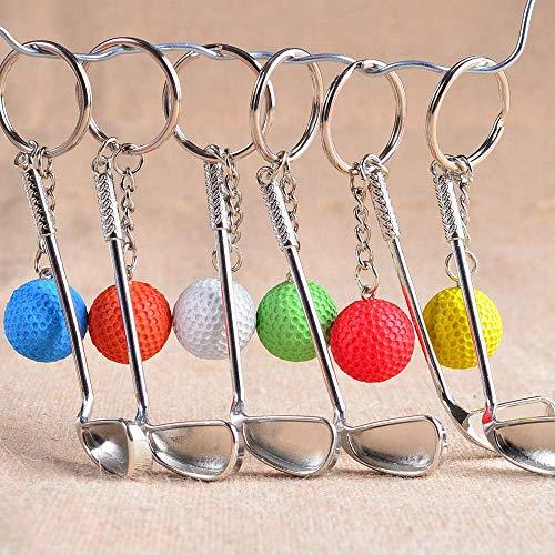 AMITD Schlüsselbund6 Teile/Satz Golfball Schlüsselanhänger Bestnote Metall Schlüsselbund Auto Schlüsselanhänger Schlüsselanhänger Sportartikel Sport Geschenk Für Souvenir Ball