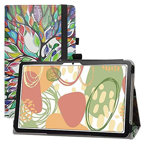 LFDZ Huawei MatePad Funda,Soporte Cuero con Slim PU Funda Caso Case para Huawei MatePad 10.4' BAH3-AL00 BAH3-W09 / Honor V6 Tablet(Not fit Other Models),Love Tree