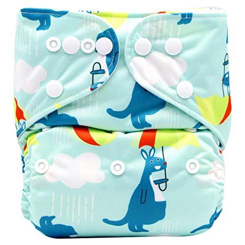 iZiv Recién Nacido con 1 Inserto Grueso Infantil Impermeable Ajustable Reutilizable Lavable Paño de Bolsillo Pañal para Bebés 0-3 años