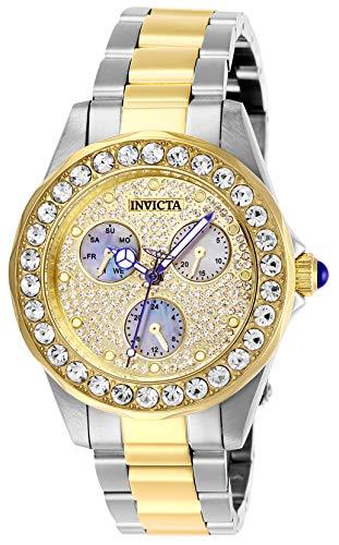 Invicta 28459 Angel Reloj para Mujer acero inoxidable Cuarzo Esfera oro