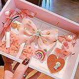 MINGMING Boutique caja de regalo ~ dulce pequeña princesa lindo niño femenino tesoro horquilla bowknot red hilo horquilla tocado pelo accesorios