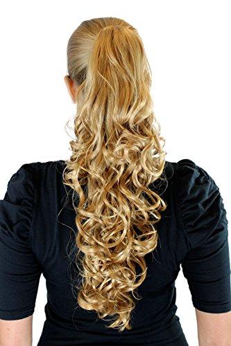 Postiche, couette / tresse, blond, env. 50 cm, long, clip pince papillon, frange XF-9003-225