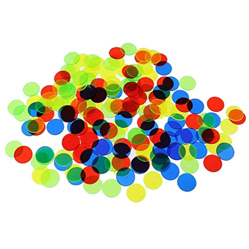 Toyvian 15Mm Zählen Bingo Chips Bingo Spielkarten Plastik Bingo Marker Party Spiele Liefert 500 Stück (Zufällige Farbe)