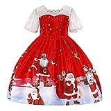 K-youth Vestidos para Niñas De Navidad Vestido de Niña Papá Noel Vestido Navidad Niña Fiesta Disfraces Vestidos de Fiesta para Niñas Elegantes Infantil Ropa para Niña(Rojo4, 6-7 años)