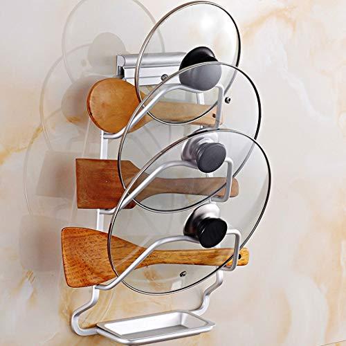 3-layer Metal Pan Organizer Rack, Punch-free Wall-mounted Rack, Kitchen Multi-purpose Cutting Board Storage Rack