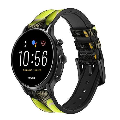 Innovedesire Tennis Cinturino in Pelle Smartwatch per Fossil Hybrid Smartwatch Nate, Hybrid HR Latitude, Hybrid Smartwatch Machine Taglia (24mm)