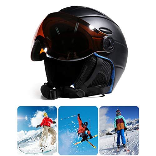 Einsgut Skihelm, 2-in-1, vizier, snowboard-helm, afneembare sneeuwas, anti-condens, voor skiën, fietsen, ijslopen
