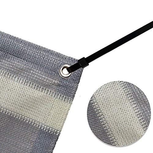 schaduwnet, zonwerend net, Sunblock mesh, schaduwnet, zonwerende dakkoeling, netisolatie, warmtestof, groene planten, meerdere afmetingen (kleur: grijs, maat: 09 x 1 m) 5x6m grijs