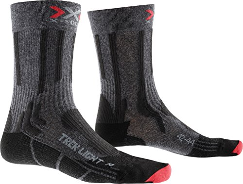 X-SOCKS Chaussettes Trekking Light S Anthracite Melange/Red