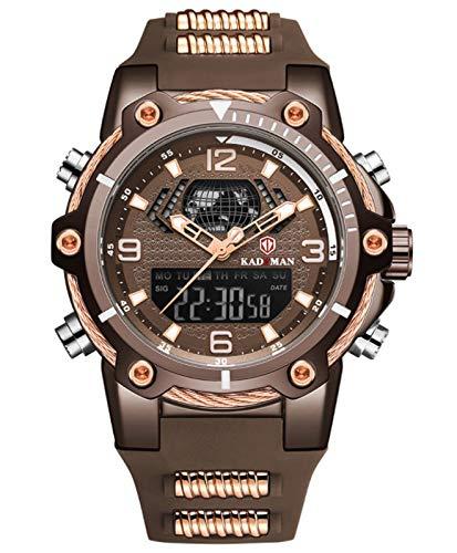MLHXHX Reloj de Reloj Despertador Calendario Reloj multifunción Deportes Reloj de Cinta Impermeable Coffee