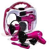 TOYLAND Niñas Batería Operado Hairstyler Set Carry Case
