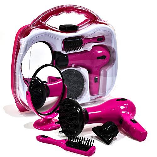 Niñas Batería Operado Hairstyler Set Carry Case