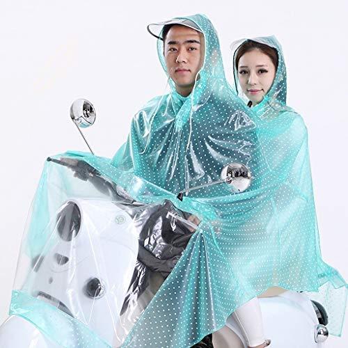 LSLS Raincoat Raincoat Transparent Raincoat Poncho Double Electric Cars Raincoat Large Cap Thick Raincoat Raincoat Mother Rain Poncho (Color : B, Size : XXX-Large)