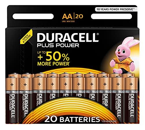 Duracell Plus AA Batterie, Confezione da 20