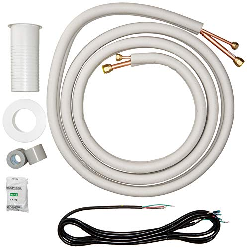 Senville 16 Ft. Insulated Copper Line Set for Mini Split Air Conditioner, 3/8\